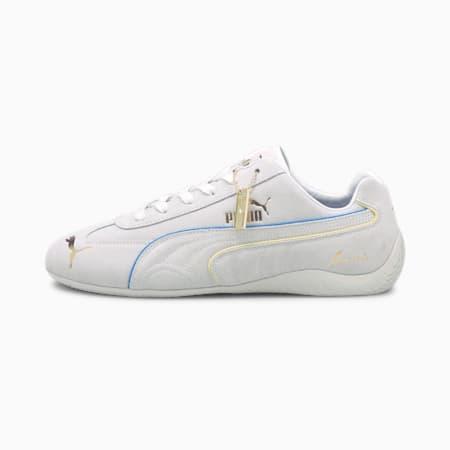 Speedcat Rudolf Dassler Legacy Formstrip Trainers, Puma White-Ibiza Blue, small