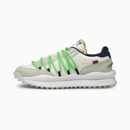 Lace Rider Pop Trainers, Puma White-Nimbus Cloud, small