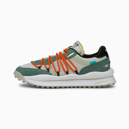 Lace Rider Pop Trainers, Gray Violet-Blue Spruce, small