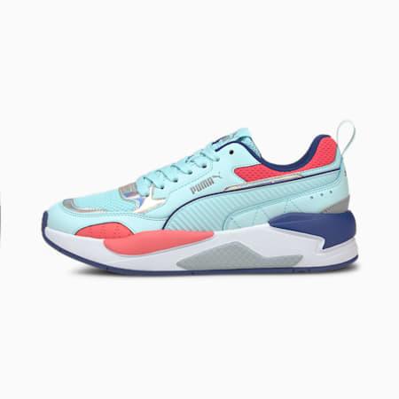 Zapatos deportivos X-RAY Square Iridescentpara mujer, Azul-Azul-Coral-Plateado, pequeño