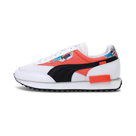 Future Rider International Game Shoes, Puma White-Tigerlily, small-IND