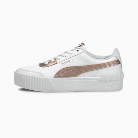 Carina Lift Metallic Damen Sneaker, Puma White-Rose Gold, small