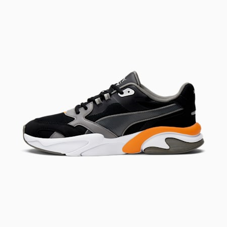 Zapatos deportivos X-Ray Millennium, Puma Black-Steel Gray-Puma Silver-Vibrant Orange, pequeño