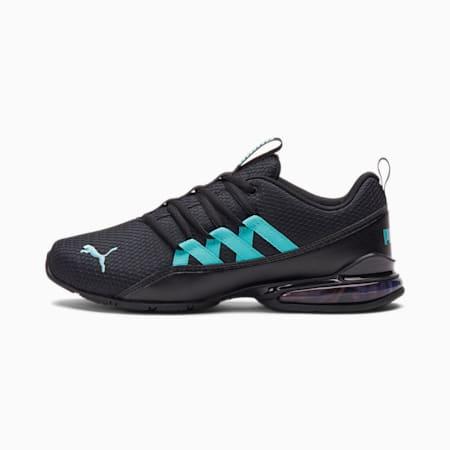 Zapatos deportivos Riaze Prowl Mod Multi para mujer, Puma Black-Blue Turquoise, pequeño