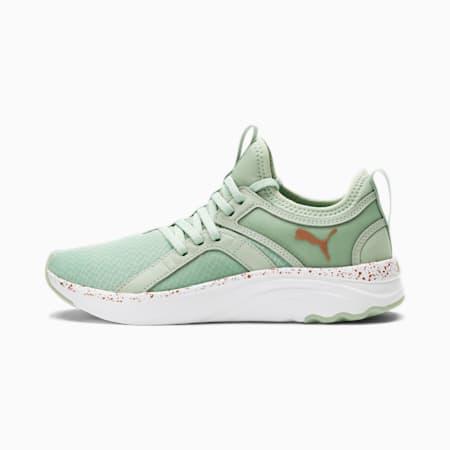 Zapatos para correr SOFTRIDE Sophia Speckle para mujer, Frosty Green-Copper, pequeño