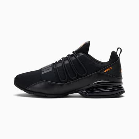 Zapatos deportivos Cell Regulate Digi para hombre, Puma Black-Asphalt-Orange Glow, pequeño