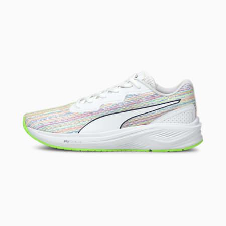 Aviator Unisex Spectra Running Shoes, Puma White-Green Glare, small-IND