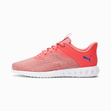 Zapatos para correr Carson 2 Edge X Ultra para mujer, Sun Kissed Coral-Star Sapphire, pequeño