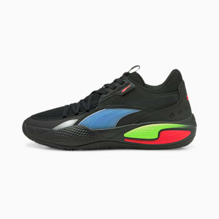 Court Rider Pop Basketballschuhe, Puma Black-Bluemazing, small