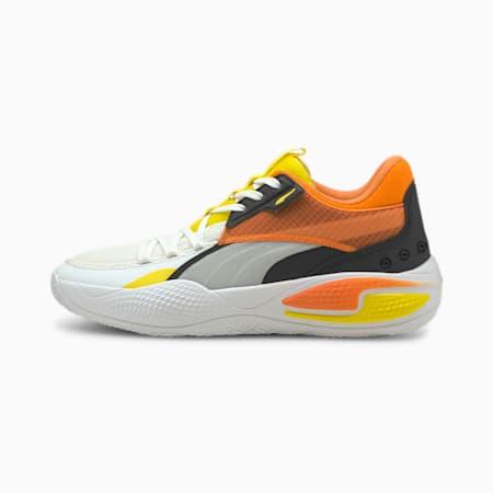 Zapatos de básquetbol Court Rider Court Crush Street, Puma White-Carrot, pequeño