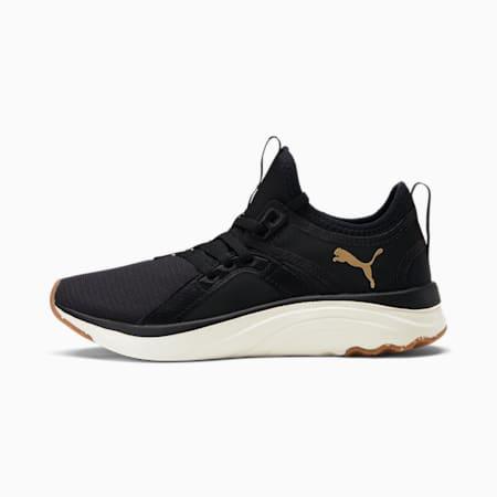 Zapatos deportivos SoftRide Sophia Eco JR, Puma Black-Puma Team Gold, pequeño
