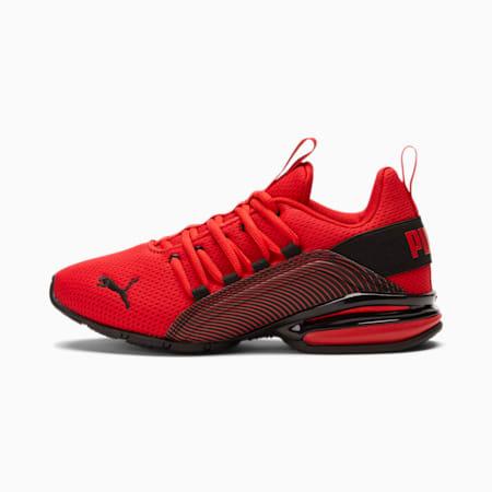 Zapatos deportivos Axelion Interest Stripe JR, High Risk Red-Puma Black, pequeño