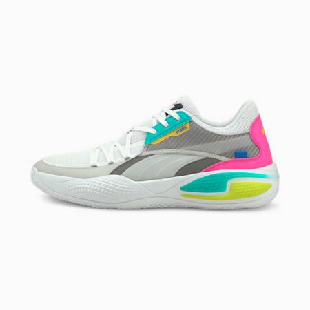 Court Rider 2K Basketball Shoes, Puma White-Ultra Gray, small