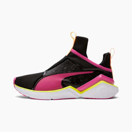 Zapatos deportivos City Lights Fierce 2 para mujer, Puma Black-Beetroot Purple-Nrgy Yellow, pequeño