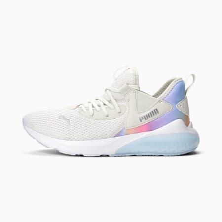 Zapatos deportivos Cell Vive Prismatic para mujer, Nimbus Cloud-Puma Silver-HALOGEN BLUE, pequeño