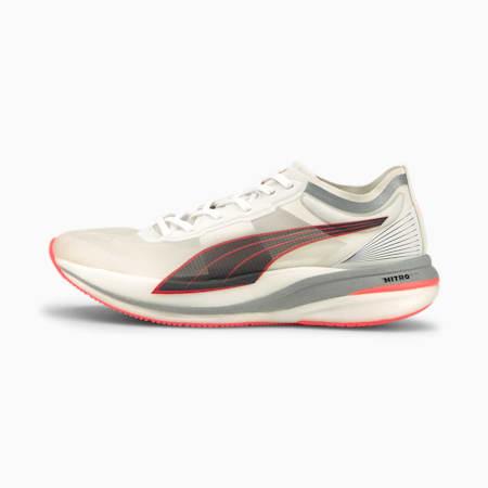 Deviate Nitro Elite Women's Running Shoes, Puma White-Lava Blast, small