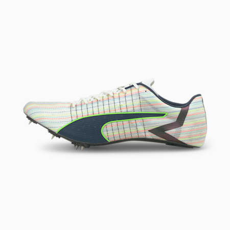 evoSPEED Future FASTER+ Leichtathletikschuhe, Puma White-Spellbound-Green Glare, small