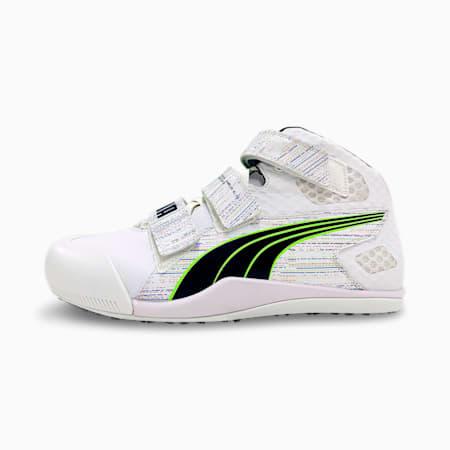 Chaussures d'athlétisme evoSPEED Javelin Elite, Puma White-Spellbound-Green Glare, small