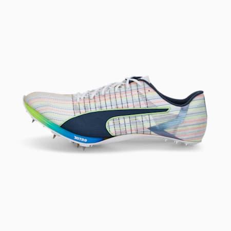 Scarpe chiodate da atletica leggera evoSPEED TOKYO NITRO, Puma White-Spellbound-Green Glare, small