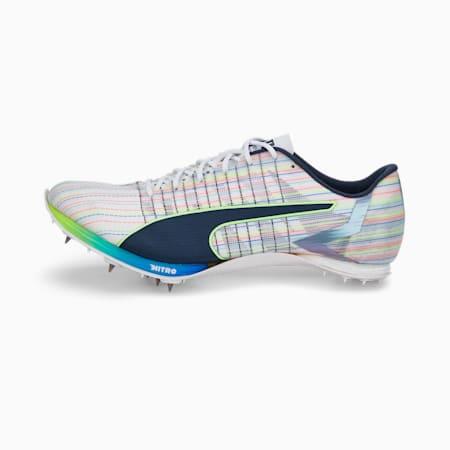 Chaussures d'athlétisme à pointes evoSPEED TOKYO NITRO JUMP, Puma White-Spellbound-Green Glare, small