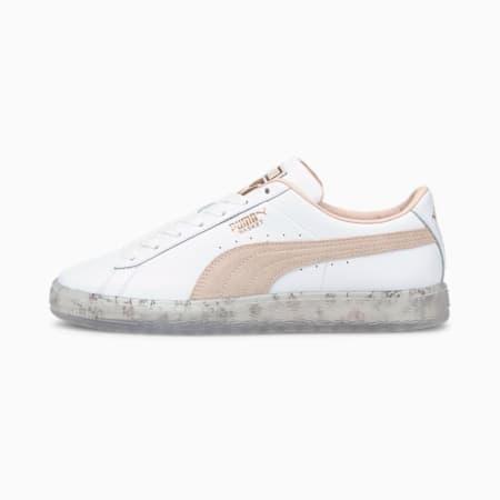 Zapatos deportivos Basket In Bloom para mujer, Puma White-Cloud Pink, pequeño