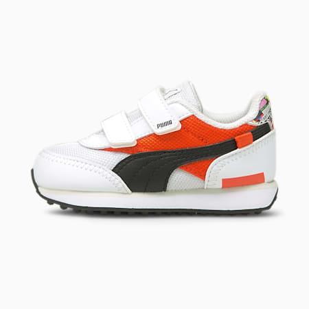 Future Rider International Game Baby Sneaker, Puma White-Tigerlily, small