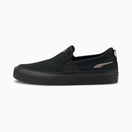 Bari Z Slip-on Trainers, Puma Black-CASTLEROCK, small