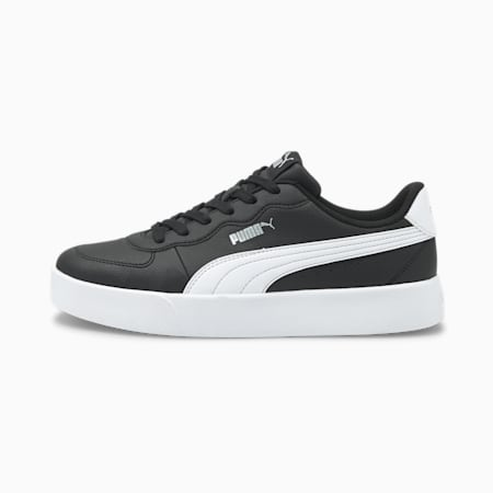 Zapatillas Skye Clean para mujer, Puma Black-White-Silver, small
