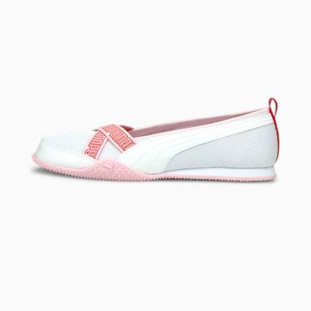 Bella Ballerina Women's Shoes, Puma White-Puma White-Pink Lady, small-IND