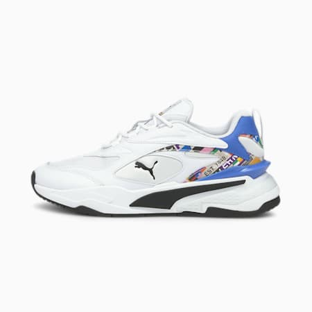 Zapatos deportivos RS-Fast INTL Game JR, Puma White-Empire Yellow, pequeño