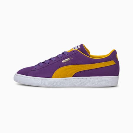 Suede Teams Trainers, Prism Violet-Spectra Yellow, small
