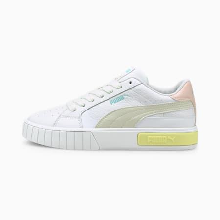 Damskie buty sportowe Cali Star, Puma White-Vaporous Gray-Yellow Pear, small