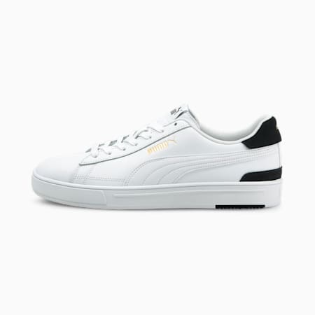 Zapatos deportivos PUMA Serve Pro para hombre, Puma White-Puma White-Puma Team Gold-Puma Black, pequeño