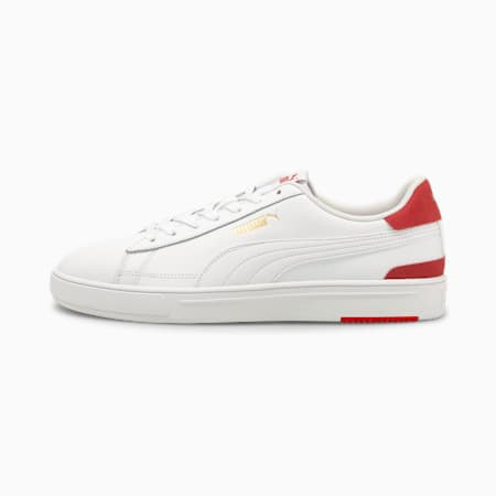 PUMA Serve Pro Unisex Shoes, White-White-Red- Team Gold, small-IND
