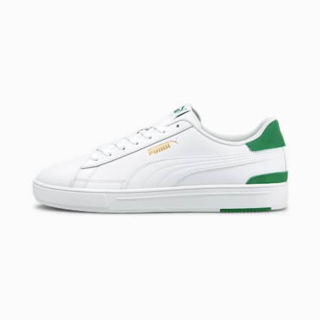PUMA Serve Pro Unisex Shoes, Puma White-Puma White-Amazon Green-Puma Team Gold, small-IND