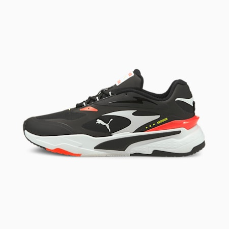 RS-Fast Tech Sneaker, Black-White-Fiery Coral, small