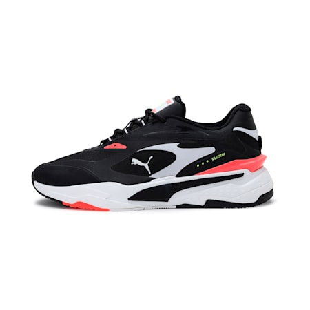 RS-Fast Tech Shoes, Black-White-Fiery Coral, small-IND