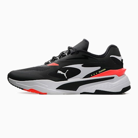 Zapatos deportivos RS-Fast Techpara hombre, Black-White-Fiery Coral, pequeño