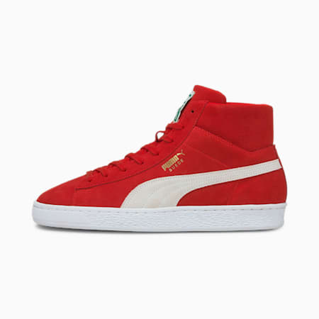Suede Mid XXI Men's Trainers, High Risk Red-Puma White, small-GBR