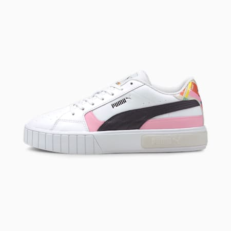 Scarpe da ginnastica Cali Star International Game donna, Puma White-Puma Black, small