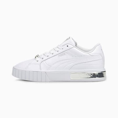 Cali Star Metallic Women's Trainers, Puma White-Puma Silver, small