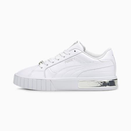 Zapatillas Cali Star Metallic para mujer, Puma White-Puma Silver, small