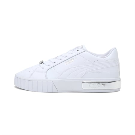 Cali Star Metallic Women's Sneakers, Puma White-Puma Silver, small-IND