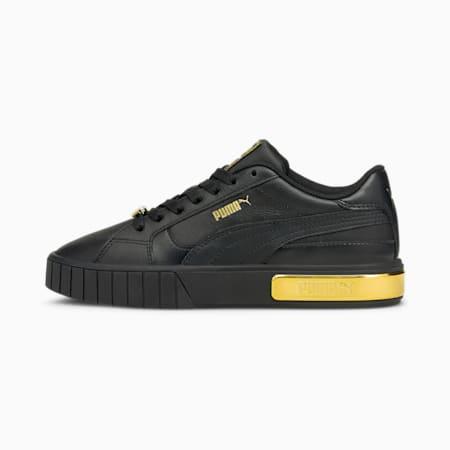 Cali Star Metallic Women's Sneakers, Puma Black-Puma Team Gold, small
