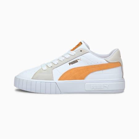 Cali Star Women's Sneakers, Puma White-Peach Cobbler, small