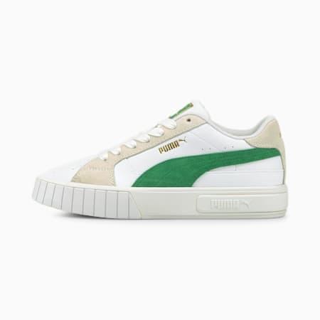 Zapatos deportivos Cali Star para mujer, Puma White-Amazon Green-Vaporous Gray, pequeño