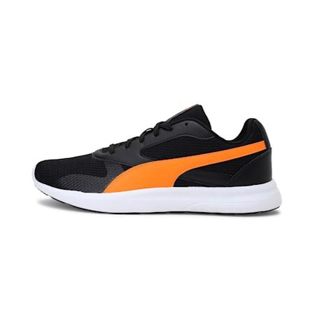 Firefly Men's Shoes, Puma Black-Vibrant Orange, small-IND