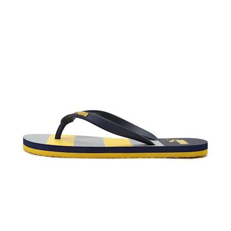 Neon 4  Men's IDP Flip Flops, Peacoat-Super Lemon-High Ris, small-IND