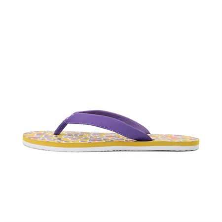 Pastel IDP Women's Flip Flops, Super Lemon-Ultra Violet, small-IND
