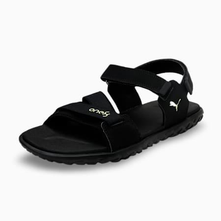 one8 Virat Kohli Strider V2 Men's Sandals, Puma Black-Sharp Green, small-IND